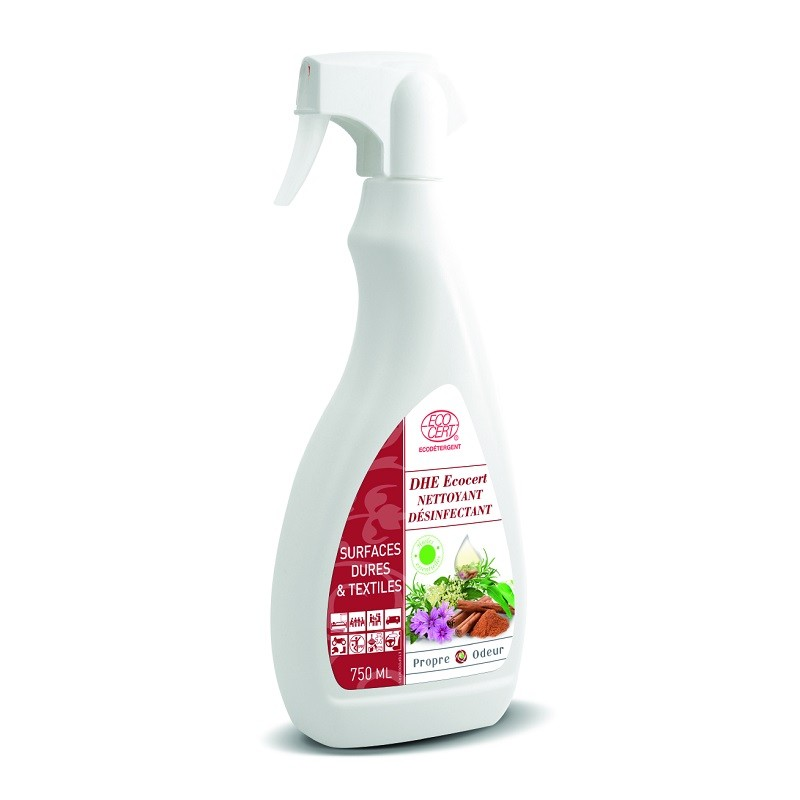Désinfectant Virucide en spray DHE400 100% naturel huiles essentielles 750 ml
